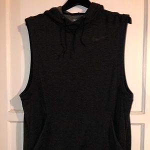 Nike sleeveless training hoodie